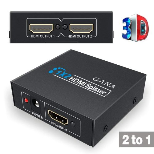 HDMI Splitter 1 In 2 Out 1X2 HDMI Splitter Switch With 1 Input To 2 Outputs Support 3D Full HD 1080P HDTV