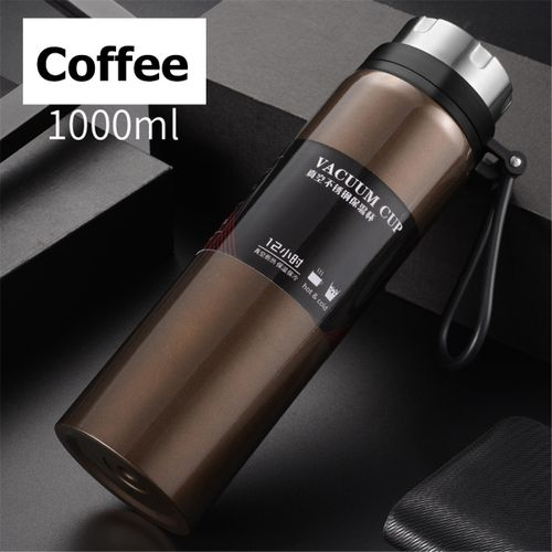 1L Portable Stainless Steel Bottle Vacuum Cold Thermos Cup Insulated Drink Flask
