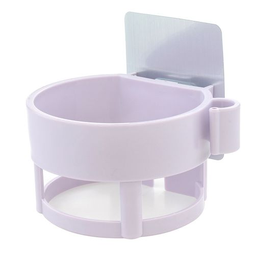 No Trace Pasted Hair Dryer Rack In Bathroom-Purple