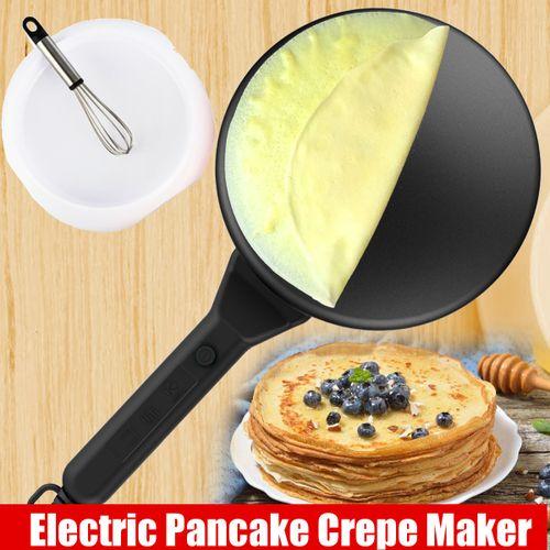 Electric Pancake Crepe Maker Batter Tray Egg Pan Beater Handle Non-Stick