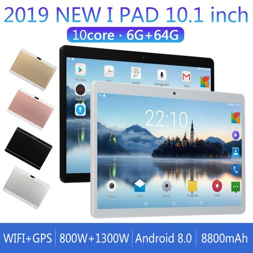Tablet 10.1-inch ( 4GB,64GB ROM) Android 7.0 8MP+2MP Tablet-White