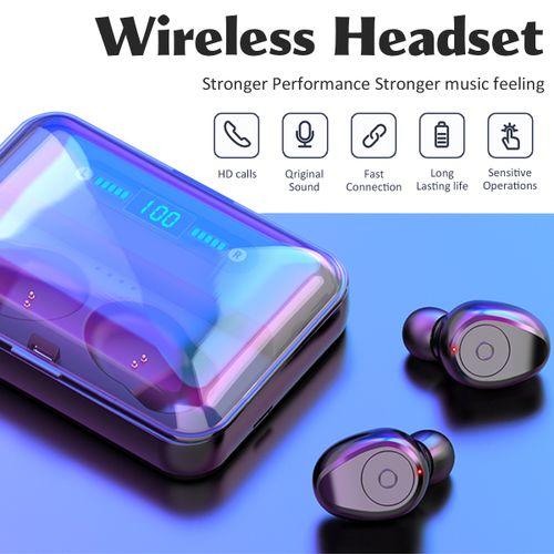 3500mAh Bluetooth Headset Wireless Digital Display Speaker