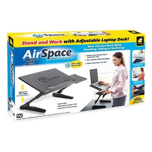 Super Adjustable Laptop Desk With Mouse Pad Tray-Air Space