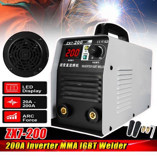 Mini Handheld MMA LED Electric IGBT Welder 20-250A Inverter ARC Welding Machine
