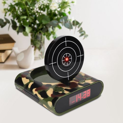 Alarm Clock USB Innovative Digital Electronic Clock Shooting Alarm Clock For Home Bedroom