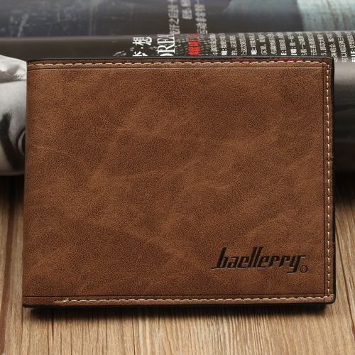 Fashion Mens Leather Wallet Holder Purse Pocket Dark Coffee