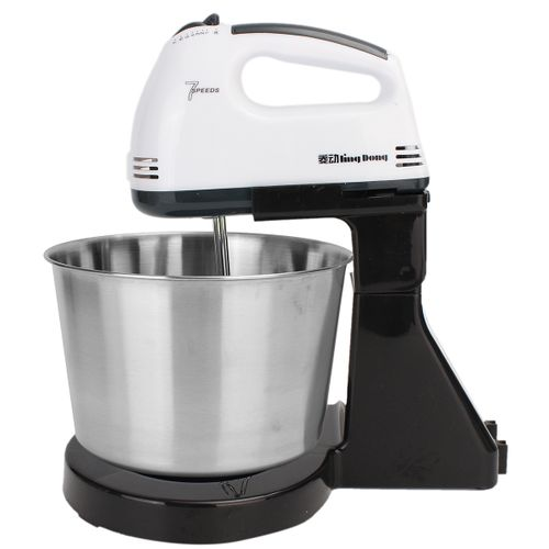 220V 7 Speed Electric Stand Mixer Hand Countertop Kitchen Homemade Cakes Muffins White