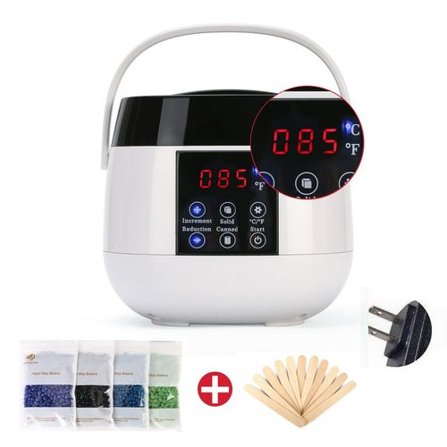 Waxing Kit LED Heater Wax Warmer Pot Hair Removal Bean Stick Machine