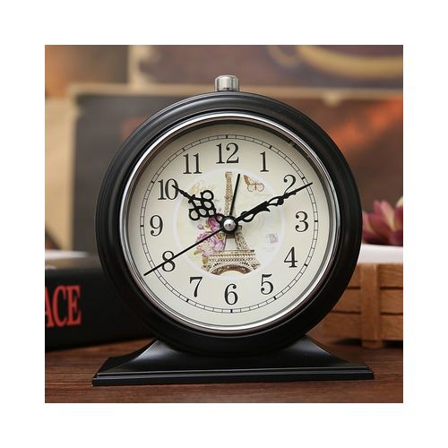 Clock Europe Antique Silent Table Clock With Night Light