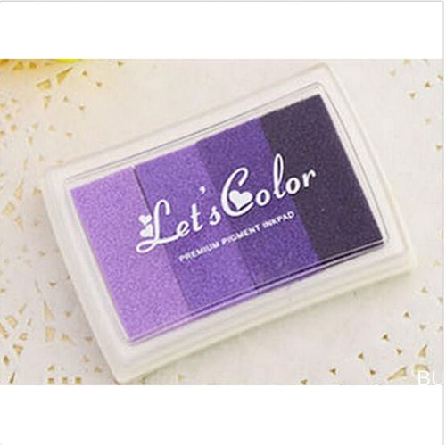 5 Colors Gradient Color Ink Pad Stamp Oil Based Scrapbooking Accessorie
