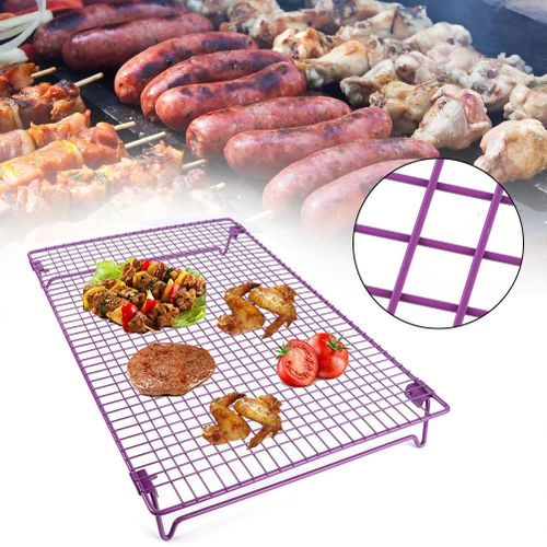 Purple Biscuit Cake Bread Cooling Rack Grid Baking Tray