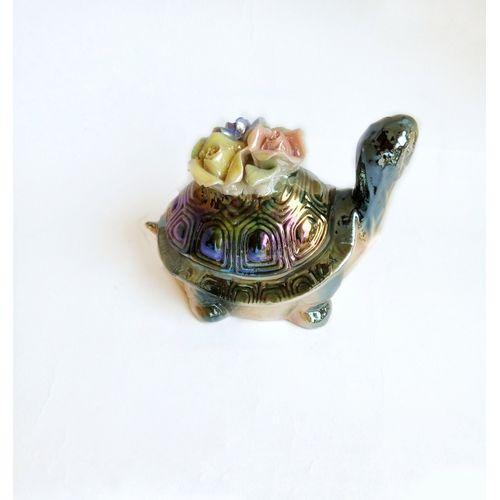 Ceramic Tortoise Decorative Figurine