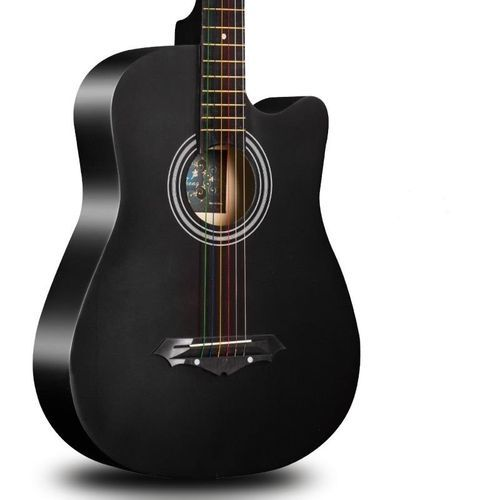 Acoustic Box Guitar With Bag And Strap - Black