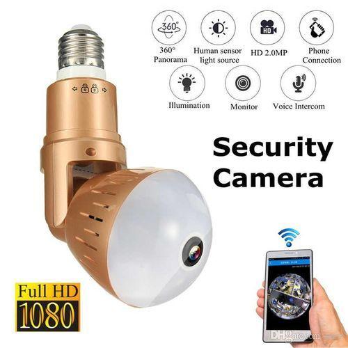 Wifi Smart Panoramic Bulb Light Camera 360 Degree