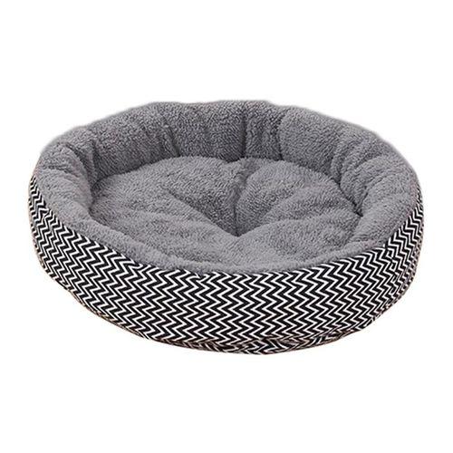 Shinewerop 1PC Round Shape Comfortable Soft High Quality Pet Nest Bed (Black)