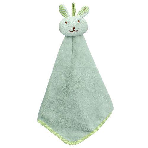 Kitchen Cartoon Animal Hanging Cloth Soft Plush Dishcloths Hand Towel GN-green
