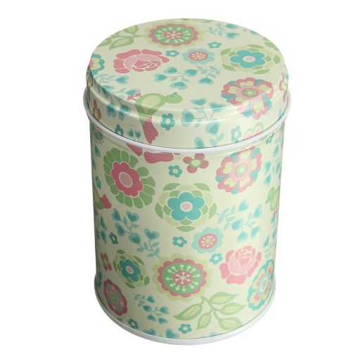 Double Cover Tea Storage Tins Canister Box Caddy Sugar Candy Coffee 04