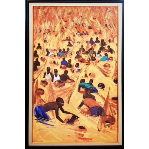 Argungun Festival Acrylic On Canvas Art Paint Work 60 X 120