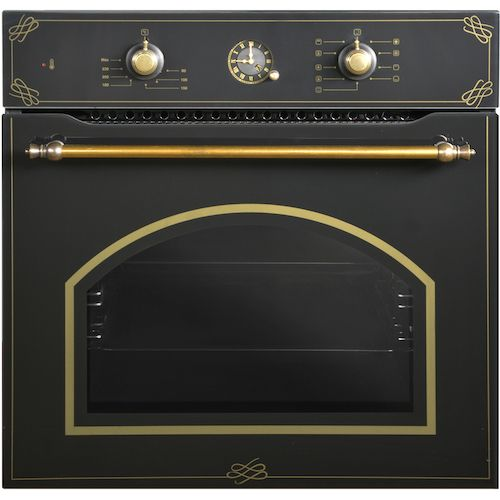 Luxell Black Glass Rustic Oven With Analog Timer