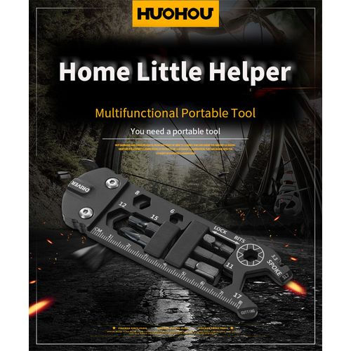 HUOHOU 16 In 1 Wrench Multi-tool Portable Tools Universal Bicycle Stainless Kit