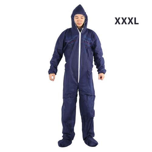 Work Clothes Exposure Suit Lightweight Disposable Non-Woven Dark Blue Compact Factory Cover