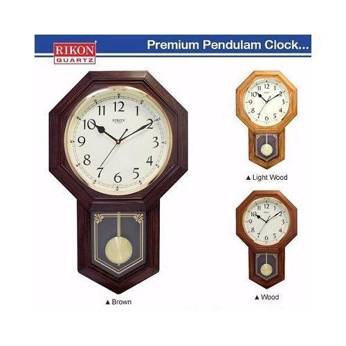 Rikon Wooden Finished Plastic Pendulum Wall Clock