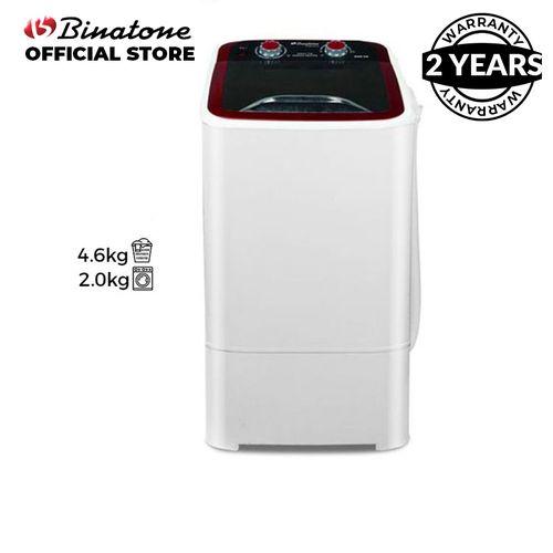 4.6Kg Single Tub-In-Tub Washing Machine - Black