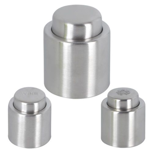 Stainless Steel Reusable Vacuum Sealed Champagne Red Wine Bottle Pump Stopper Cap Bar Tools