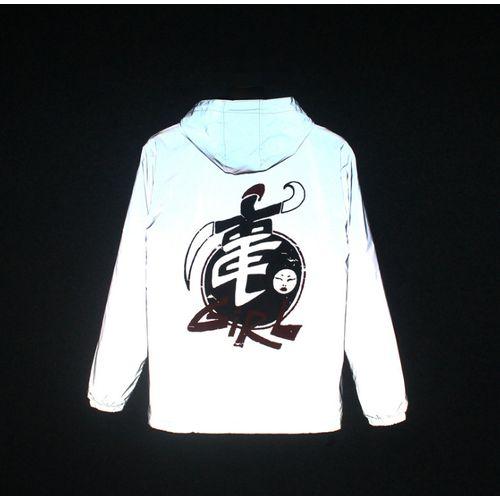 Reflective Coat Hooded Windbreaker Fashion Runing Jacket