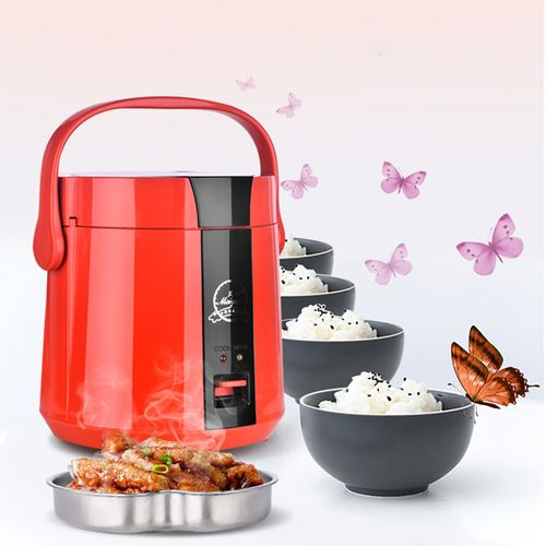 1.2L Multifunctional Electric Lunch Box Mini Rice Cooker Food Steamer Portable