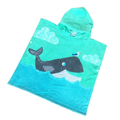 Class A Formaldehyde-Free Children'S Bath Cotton Hooded Bath Towel Seagull Dolphin