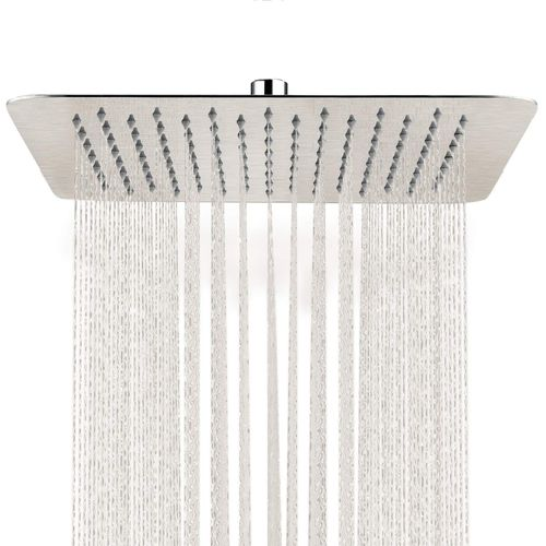 16 Inches Square Stainless Steel Rains Shower