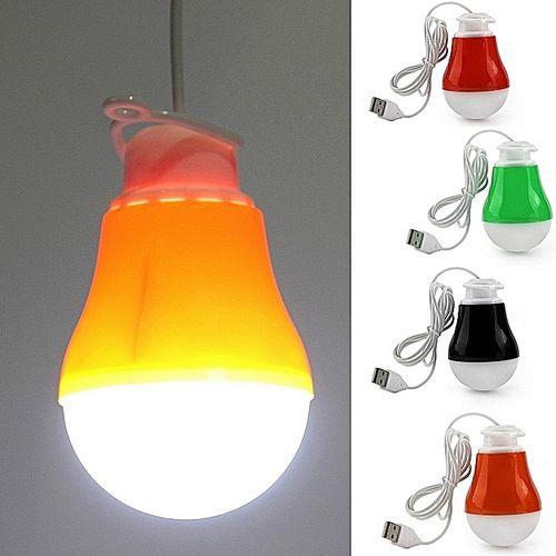 3 PIECES OF DC 5V 5W Portable LED Bulb USB Light Reading Lamp White Light USB Power-any Colour