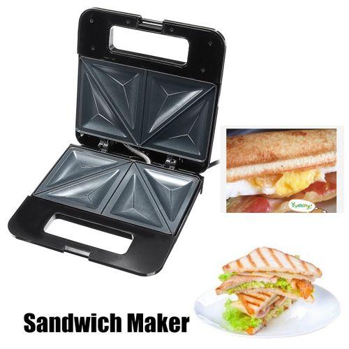KITCHEN Electric Sandwich Waffle 2 Slice Automatic Griller Panini Toastie Press