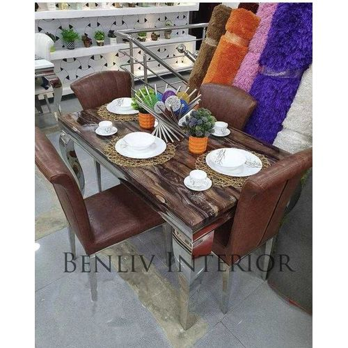 Marble Dining Table Sittings Chairs