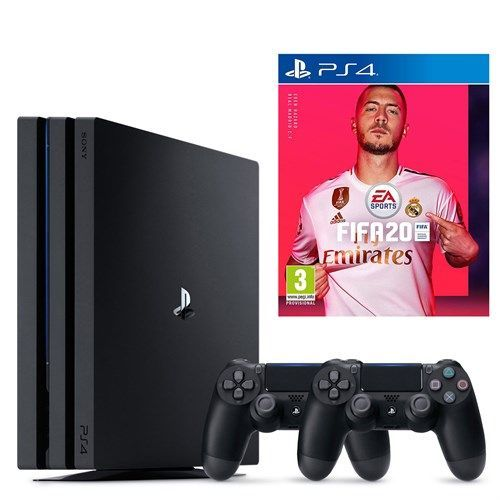 PlayStation 4 Pro Console + 2 Controllers + Fifa 2020 Bundle