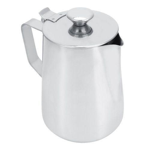 1000ml Stainless Steel Coffee Milk Frothing Cup With Lid For Latte Art Coffee Shop Use