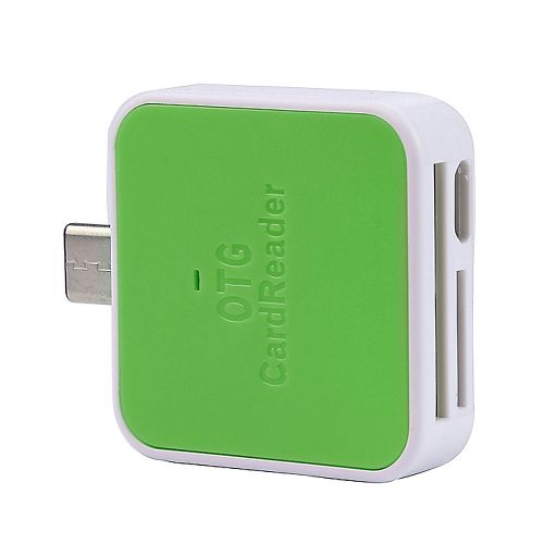 Muliawu Store 2In1 OTG/TF/SD Smart Card Reader Adapter Card Reader For Android Smartphone GN-Green