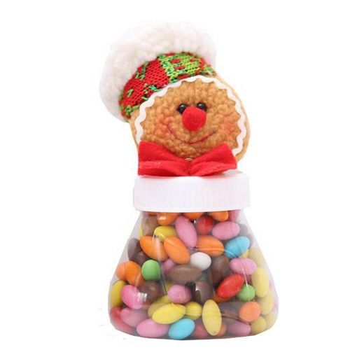 Benhongszy Bowl Christmas Gingerbread Man Candy Jar Kids Gift Ornaments Storage Container