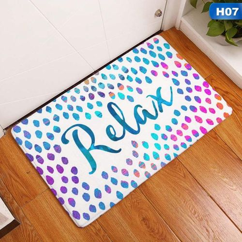 1pc Homing Arrive Door Mats For Entrance Door Character Colorful Rds Pattern Carpets Living Room Dust Proof Mats