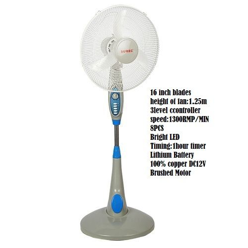 Rechargeable Fan MD401B 16 Inches- Silver
