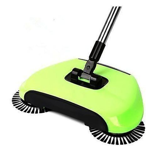 Magic Sweeper Automatic Spinning Broom And Vacuum Cleaner Cordless No Battery Required - Green
