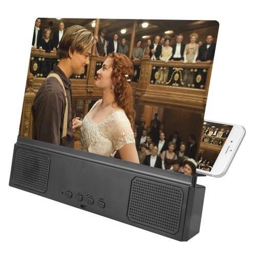 PhoneScreenMagnifierWithBluetoothSpeaker12Inches-Black