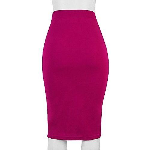 High Waist Pencil Skirt- Pink