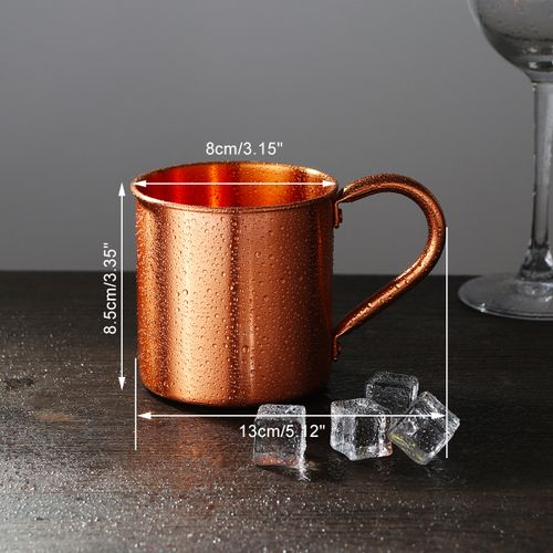 New 415ml Pure Copper Camping Mug Traveling Water Drinking Cup Household Kitchen