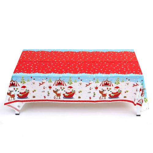 5Type 120x180cm Christmas Tablecloth PVC Waterproof Anti-stain Home Dinner Decor