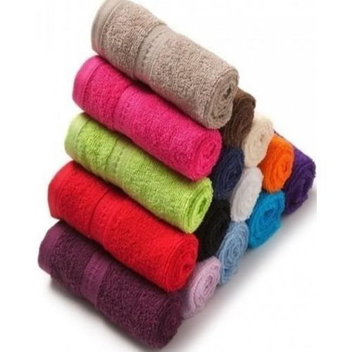 Quality Multi Colored Face Towel- 12 Pieces (Multi Colour)