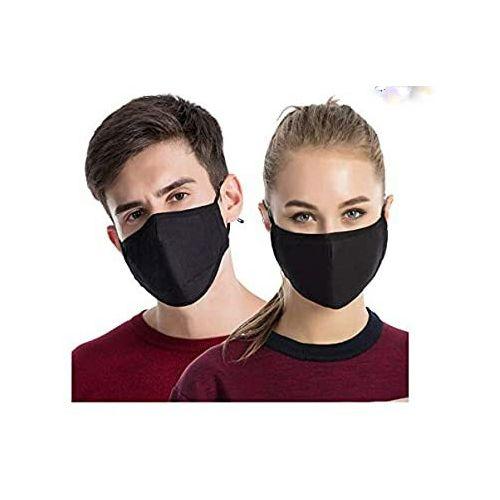3 Pieces Washable And Reusable Nose Masks - Black
