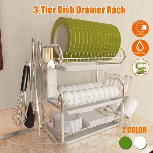 Best Selling 2019 Products 3-Tier Dish Drying Rack Kitchen Collection Shelf Drainer Organizer Kitchen Accessories Dropshipping