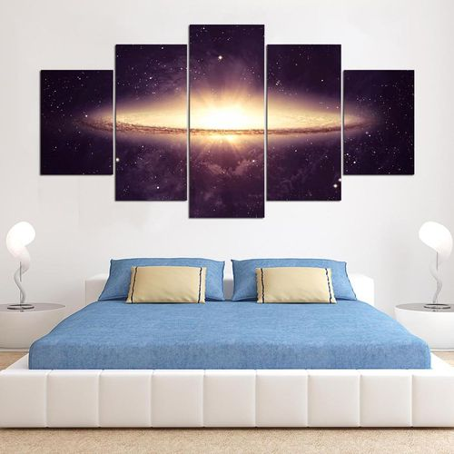 5 Cascade Vast Universe Canvas Wall Painting Picture Home Decoration Without Frame Including Instal